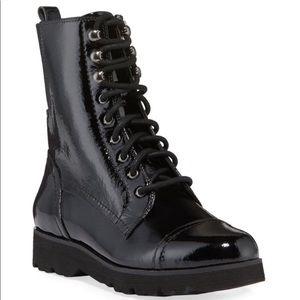 Donald J Pliner Camren Leather Hiker Boots